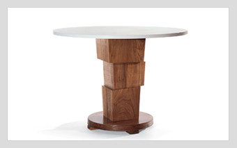 Block Pedestal Dining Table