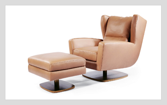 Skoop Swivel Chair & Ottoman